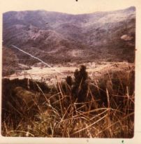 Artillery marker round shot into valley on second day. Author photo.